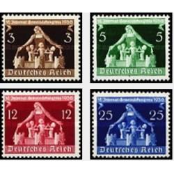 4 عدد تمبر کنگره بین المللی دولت محلی - رایش آلمان 1936 با شارنیه قیمت 87 دلار