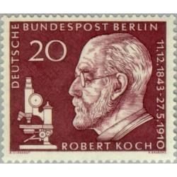1 عدد تمبر یادبود ربرت کخ - برلین آلمان 1960