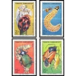 4 عدد تمبر حشرات مفید - ترکیه 1980 قیمت 8.5 دلار