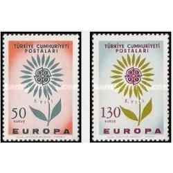 2 عدد تمبر مشترک اروپا - Europa Cept - ترکیه 1964