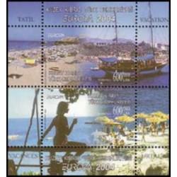 سونیرشیت تمبر مشترک اروپا - Europa Cept - تعطیلات- قبرس ترکیه 2004