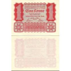 اسکناس 1 کرون - اتریش 1922 کیفیت 98%