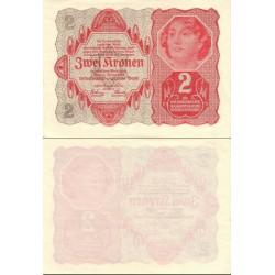 اسکناس 2 کرون - اتریش 1922 کیفیت 90%