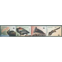 4 عدد تمبر WWF -  پرندگان  - B - لسوتو 2004