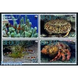 4 عدد تمبر WWF -  خرچنگها  - B - گرندین سنت وینسنت 2010