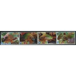 4 عدد تمبر WWF -  ماهیها  - B - نویس 2007