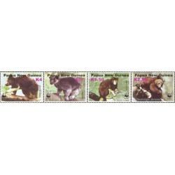 4 عدد تمبر WWF -  کانگورو درختی - حاشیه سفید  - B - پاپوا گینه نو 2003