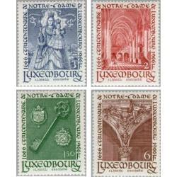 4 عدد تمبر سیصدمین سال باتوی لوگزامبورگ - لوگزامبورگ 1966