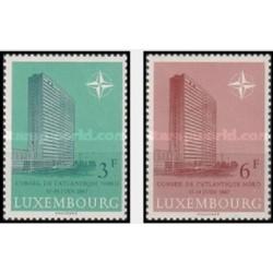 2 عدد تمبر نشست شورای ناتو - لوگزامبورگ 1967
