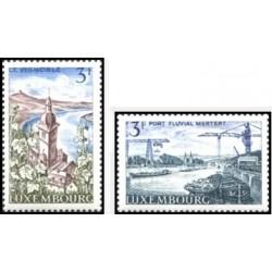 2 عدد تمبر رود موزل  - لوگزامبورگ 1967