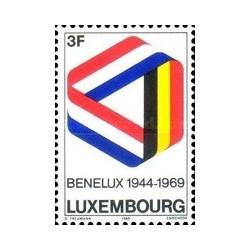 1 عدد تمبر 25مین سال بنلوگز - لوگزامبورگ 1969