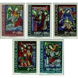 5 عدد تمبر ولادت - تمبر خیریه - تابلو - لوگزامبورگ 1972 قیمت 4.65 دلار