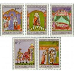 5 عدد تمبر مینیاتور - تمبر خیریه - تابلو - لوگزامبورگ 1974 قیمت 4.36 دلار