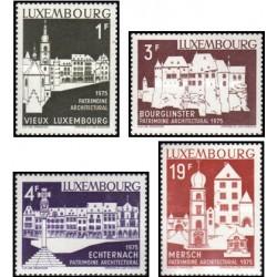 4 عدد تمبر سال میراث معماری اروپائی - لوگزامبورگ 1975 قیمت 5.2 دلار