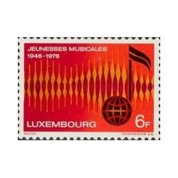 1 عدد تمبر 30مین سالگرد دوستان موسیقی  جوان - لوگزامبورگ 1976