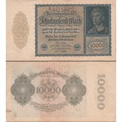 اسکناس 10000 مارک - رایش بانک -رایش آلمان 1922 - پرقیکس سریال تک حرفی  - کیفیت مطابق عکس