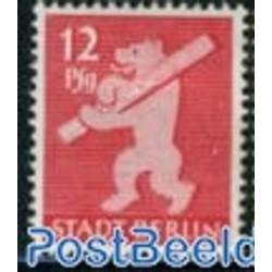 1 عدد تمبر سری پستی - 12 - شهر برلین - جمهوری دموکراتیک آلمان 1945 با شارنیه