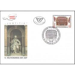 پاکت مهر روز  14مین کنوانسیون بین المللی حقوق جزایی AIDP - اتریش 1989