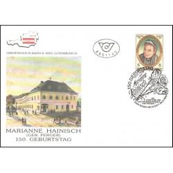 پاکت مهر روز  ماریان هاینیش - رهبر جنبش زنان - اتریش 1989