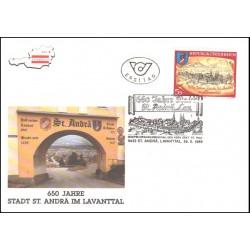 پاکت مهر روز  650مین سال شهر سنت آندرا - اتریش 1989