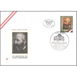 پاکت مهر روز  لودویک آنزن گرابر- شاعر، رمان نویس و نمایشنامه نویس - اتریش 1989