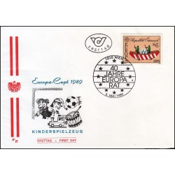 پاکت مهر روز مشترک اروپا - Europa Cept - بازیهای کودکان - اتریش 1989