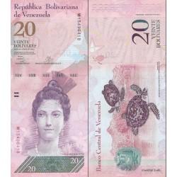 اسکناس 20 بولیوار - ونزوئلا 2013