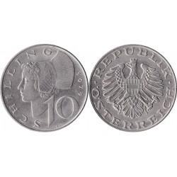 سکه 10 شیلینگ - نیکل مس - اتریش 1974 غیر بانکی