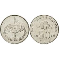 سکه 50 سن - نیکل مس - مالزی 2010 غیر بانکی