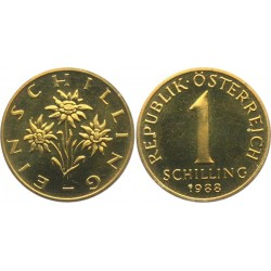سکه 1 شیلینگ - آلومینیوم برنز - اتریش 1988 غیر بانکی