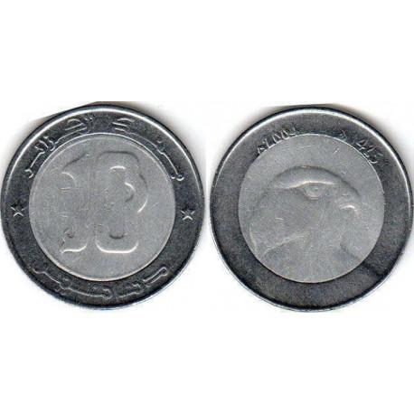 سکه 10 دینار - بیمتال - مرکز آلومینیوم و  حلقه فولاد ضد زنگ - الجزایر 2006 غیر بانکی
