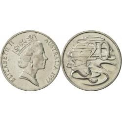 سکه 20 سنت نیکل مس - استرالیا 1997 غیر بانکی