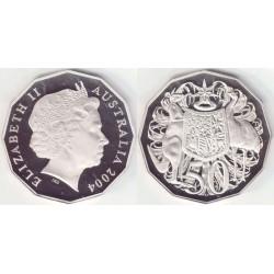 سکه 50 سنت - نیکل مس - استرالیا 2004 غیر بانکی