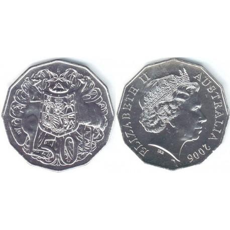 سکه 50 سنت - نیکل مس - استرالیا 2006 غیر بانکی