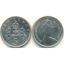 سکه 5 پنس - نیکل مس - انگلیس 1968 غیر بانکی