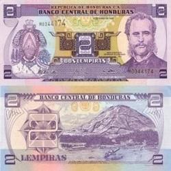اسکناس 2 لمپیراس - هندوراس 2008