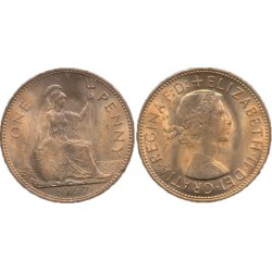 سکه 1 پنی - برنز - انگلیس 1967 غیر بانکی