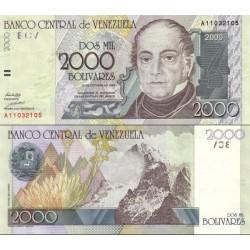 اسکناس 2000 بولیوار - ونزوئلا 1998 تاریخ 29.10.1998