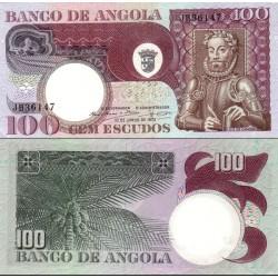 اسکناس 100 اسکودو - آنگولا 1973 کیفیت 98%