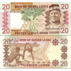 اسکناس 20 لئون - سیرالئون 1984 تاریخ 24.08.1984