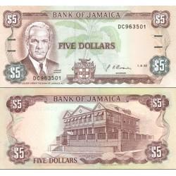 اسکناس 5 دلار - جامائیکا 1992
