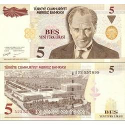 اسکناس 5 لیره - ترکیه 2005