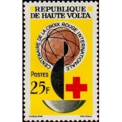1 عدد تمبر صدمین سالگرد صلیب سرخ - ولتای علیا 1963