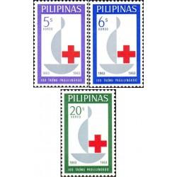 3 عدد تمبر صدمین سالگرد صلیب سرخ - فیلیپین 1963