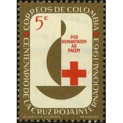 1 عدد تمبر صدمین سالگرد صلیب سرخ - کلمبیا 1963