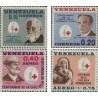4 عدد تمبر صدمین سالگرد صلیب سرخ - ونزوئلا 1963