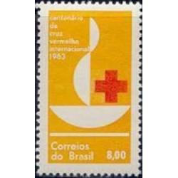 1 عدد تمبر صدمین سالگرد صلیب سرخ - برزیل 1963