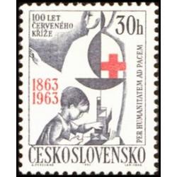 1 عدد تمبر صدمین سالگرد صلیب سرخ - چک اسلواکی 1963