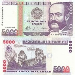 اسکناس 5000 سولس - پرو 1988