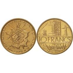 سکه 10 فرانک - نیکل برنج -فرانسه 1975 غیر بانکی